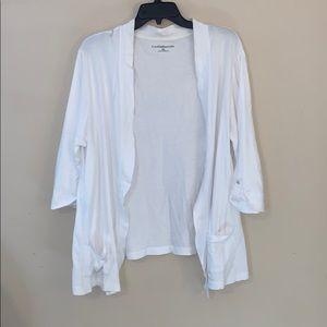 Croft & Barrow White cotton cardigan